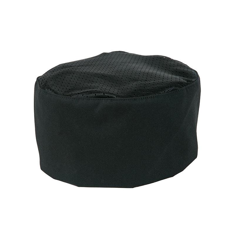 Mercer Culinary M60075BCS Bakers Black Chalk Stripe Skull Cap with No Mesh